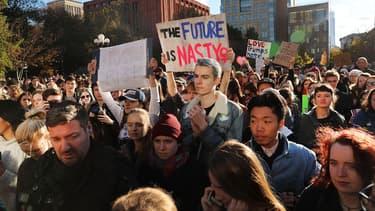 Manifestation anti-Trump à Washington Square Park, à New York, le 11 novembre 2016.