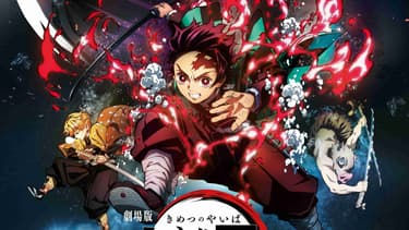 "Affiche du film ""Demon Slayer: Kimetsu no Yaiba - Le Train de l'Infini"""
