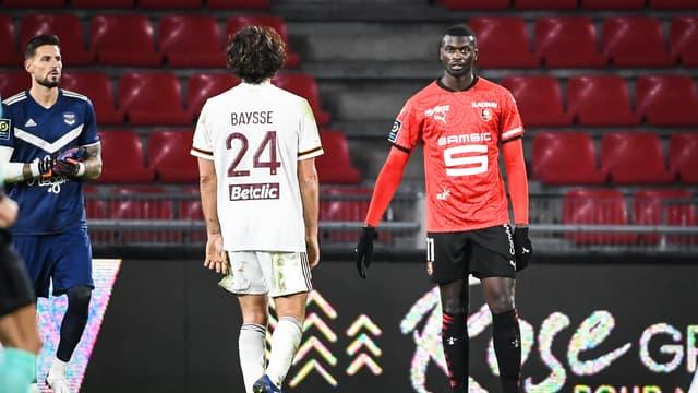 Mbaye Niang face à Bordeaux en novembre 2020