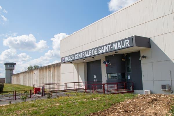 L'entrée de la maison centrale de Saint-Maur (Indre), le lundi 12 avril 2021.