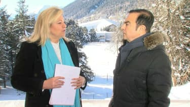 Carlos Ghosn interviewé par Hedwige Chevrillon depuis Davos