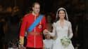 Kate Middleton et le prince William lors de leur mariage le 29 avril 2011