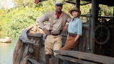 """Dwayne Johnson et Emily Blunt dans """"Jungle Cruise"""""""