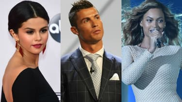 Selena Gomez, Cristiano Ronaldo et Beyoncé