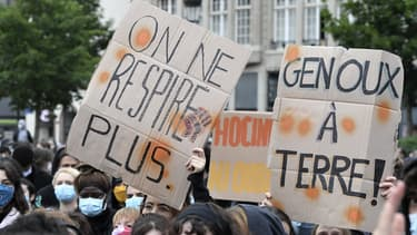 Manifestation contre les violences policières et en hommage à George Floyd à Strasbourg, le 5 juin 2020
