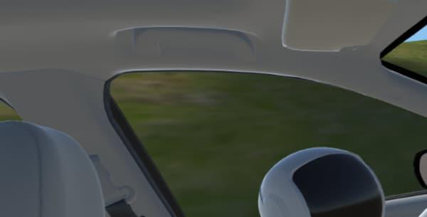 Un robot Asimo au volant pendant l'essai virtuel