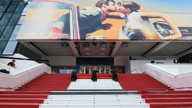 Le tapis rouge du Festival de Cannes, le 8 mai 2018