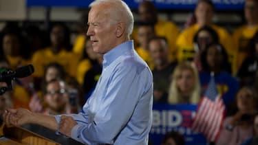 Le candidat démocrate à la présidentielle américaine 2020 Joe Biden, le 29 avril 2019 lors de son premier meeting de campagne.
