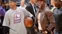 Floyd Mayweather (à droite) et le basketteur NBA Isaiah Thomas