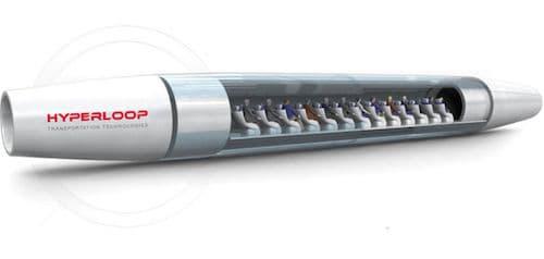"""La """"Passenger Hyperloop Capsule"""" transportera entre 28 et 40 personnes à 1.223 km/h."""