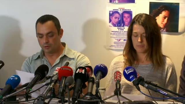 Les parents de Maëlys lors de leur déclaration.