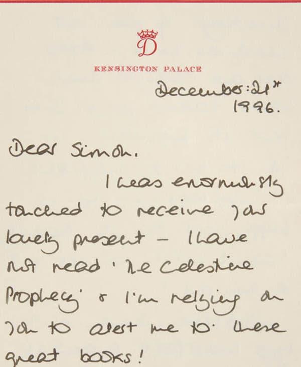 La lettre écrite par Lady Di en décembre 1996