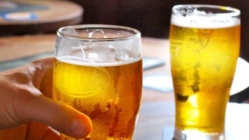 Les ventes de bière en bar sont en baisse.