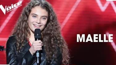 """Maëlle sur le plateau de """"The Voice"""""""