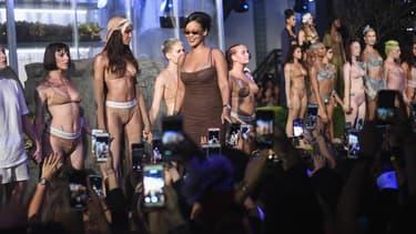 Rihanna lors de son défilé Savage X Fenty à New York le 12 septembre 2018