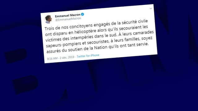 Emmanuel Macron a rendu hommage aux trois secouristes tués cette nuit