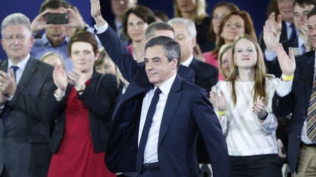 François Fillon en meeting à Paris dimanche 9 avril 2017