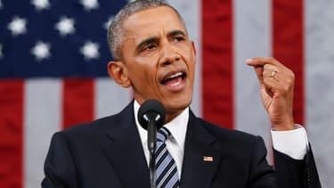 Barack Obama devant le congrès le 12 janvier 2016