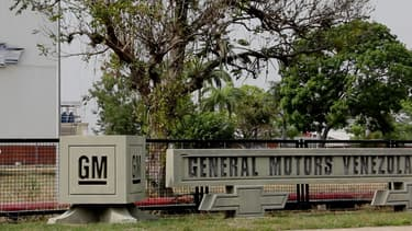 Vue extérieure de l'usine General Motors de Valencia saisie par les autorités vénézuéliennes.