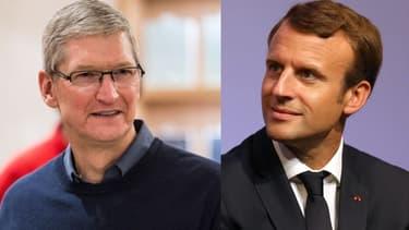 La rencontre entre Tim Cook et Emmanuel Macron a eu lieu à la demande du patron d'Apple