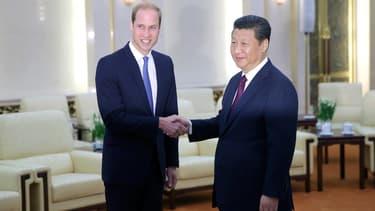 Le prince William a rencontré lundi à Pékin le président chinois Xi Jinping.