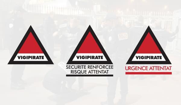 Les trois niveaux du plan Vigipirate.