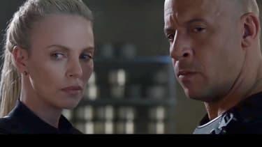 Vin Diesel et Charlize Theron dans Fast & Furious 8.