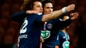 David Luiz et Edinson Cavani (PSG)