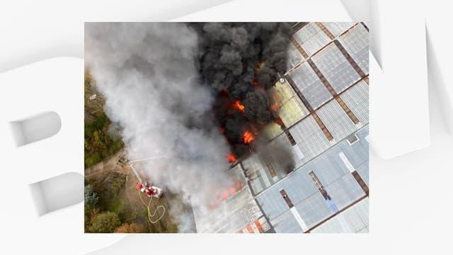 Un important incendie s'est déclaré au Havre, samedi 24 octobre 2020