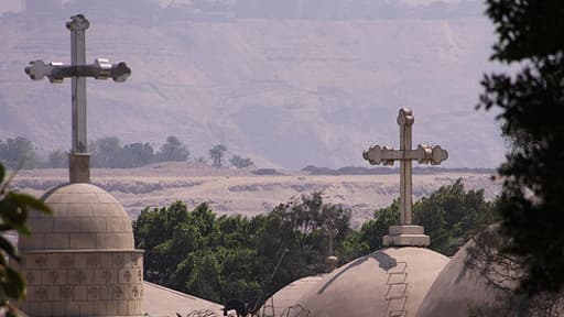 Le quartier copte du Caire, en Egypte. Depuis la chute de Mohamed Morsi, les coptes sont victimes de violences.