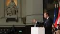 Emmanuel Macron lors de son discours.