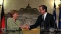 La cnahcelière allemande Angela Merkel et le 1er ministre grec Antonis Samaras, à Athènes,mardi