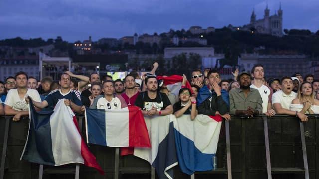 La fan zone de Lyon en 2016.