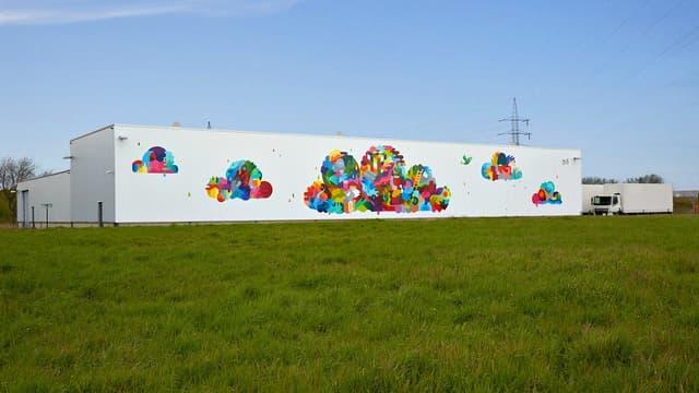 Le data center Google de Saint-Ghislain en Belgique.
