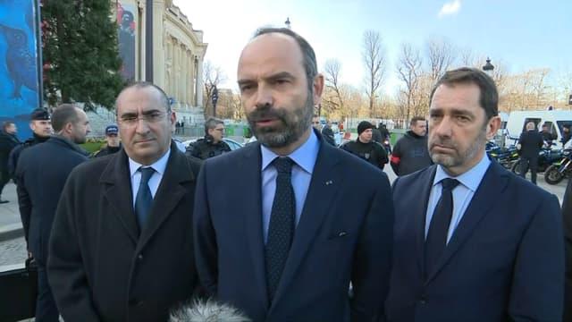 Edouard Philippe, Christophe Castaner et Laurent Nunez