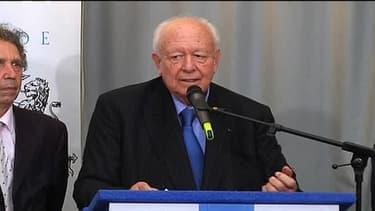Jean-Claude Gaudin arrive en tête des élections municipales à Marseille à l'issue du premier tour de scrutin le 23 mars 2014.