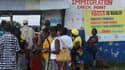 A la frontière entre le Liberia et la Sierra Leone, le 1er octobre 2014.