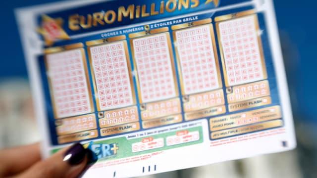 Une grille d'Euromillions (Photo d'illustration)