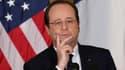 François Hollande lors de la conférence de presse commune avec Barack Obama mardi.