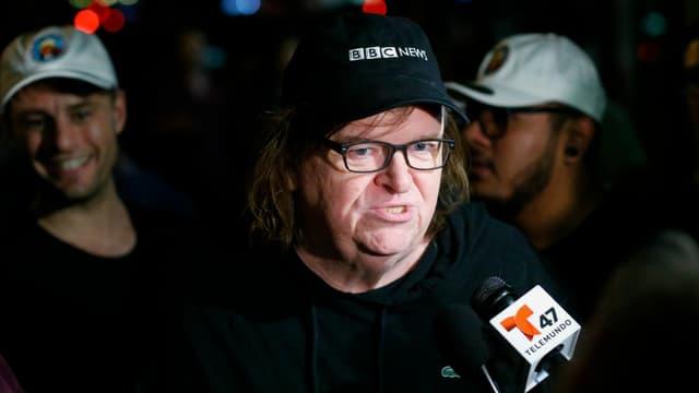 Le réalisateur Michael Moore, auteur d'un documentaire sur Donald Trump, le 18 octobre 2016 à New York.