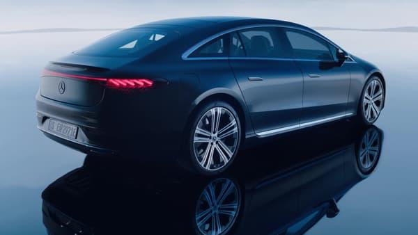 L'EQS, première berline 100% électrique de nouvelle génération de Mercedes.
