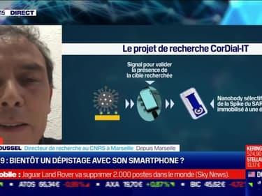 Alain Roussel (CNRS) : Bientôt un dépistage du Covid-19 avec son smartphone ? - 17/02