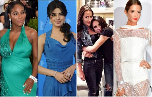 Serena Williams, Priyanka Chopra, Meghan Markle et sa meilleure amie Jessica Mulroney, Millie Mackintosh.
