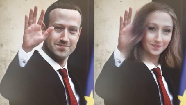 Mark Zuckerberg, soumis au dernier filtre Snapchat.