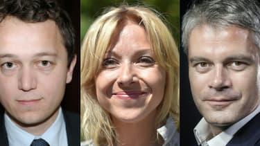 Les trois candidats à la présidence du parti Les Républicains. De gauche à droite: Maël de Calan, Florence Portelli et Laurent Wauquiez.