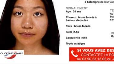 L'avis de recherche de Sophie Le Tan