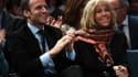 Emmanuel et Brigitte Macron le 18 octobre 2016 à Paris.