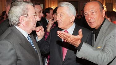 Gilbert Trigano, Bernard Pons et Jacques Séguéla en 1997