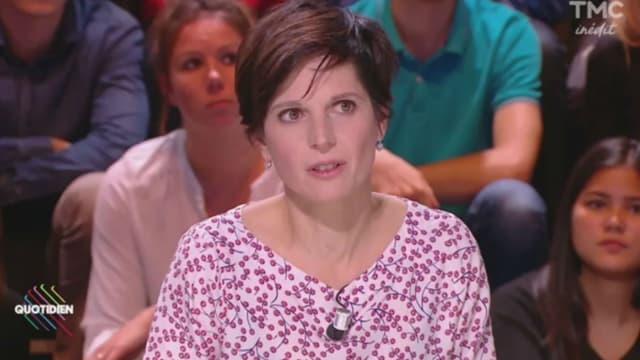 """Sandrine Rousseau sur le plateau de """"Quotidien"""", le 4 octobre 2017"""