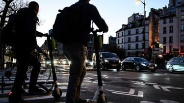Des trottinettes dans Paris